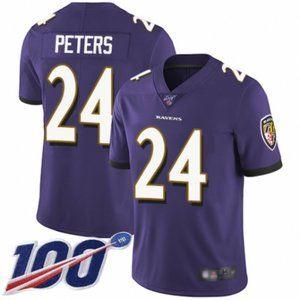 Ravens Marcus Peters 100th Season Jersey